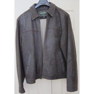 Eddie Bauer - Leather Bomber Jacket - Brown - L
